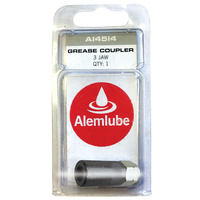 "ALEMLUBE A14513 GREASE GUN COUPLER 3 JAW - 1/8"" BSPF THREAD"