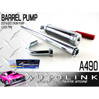 BARREL PUMP 205 & 60 LTR DRUM PUMP LEVER TYPE - ZINC & CHROME PLATED ( A490 )