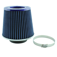 "3A RACING PERFORMANCE AIR POD FILTER 3"" OR 76mm BLUE RE-USABLE WINNER 601.2 CFM"