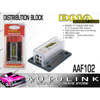 DNA 4 TO 8 GAUGE DISTRIBUTION BLOCK - GOLD PLATED ALLEN KEY SCREW FITTINGS