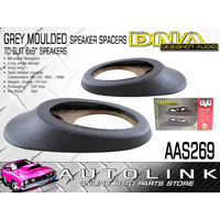 "DNA 6X9"" MOULDED SPEAKER SPACERS GREY VINYL SUIT HOLDEN COMMODORE VR-VS PAIR"