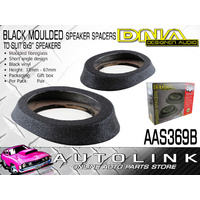 "DNA 6""x 9"" MOULDED SPEAKER SPACERS FIBREGLASS BLACK VINYL COVERED - PAIR"