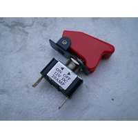 OEX TOGGLE METAL SWITCH WITH RED MISSILE COVER ON - OFF 12 VOLT @ 20 AMP ACX3913