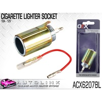OEX FEMALE CIGARETTE LIGHTER SOCKET 16A @ 12V METAL HOUSING ACX6207BL