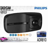"PHILIPS  2.7"" DASH CAM CAMERA - VIDEO RECORDER 1080p 156° WIDE ANGLE ADR810"