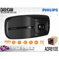 "PHILIPS 2.7"" DASH CAMERA - VIDEO RECORDER 1080p 166° WIDE ANGLE LENS ADR810S"