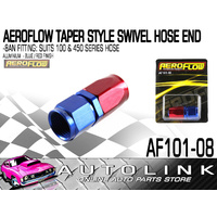 AEROFLOW -8 AN AN8 100 SERIES STRAIGHT BRAIDED HOSE END ALUMINIUM AF101-08