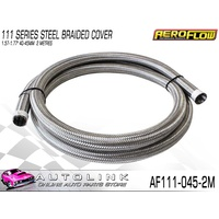 AEROFLOW 111 SERIES STEEL BRAIDED COVER FOR 40-45MM HOSES - 2 MT AF111-045-2M