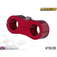 "AEROFLOW BILLET ALLOY DUAL HOSE SEPARATOR RED FINISH 3/16"" ID AF156-03R"