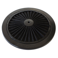 "AEROFLOW AF2251-0901 BLACK 9"" FULL FLOW WASHABLE AIR FILTER TOP LID PLATE"