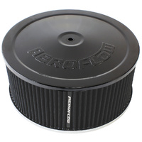 "AEROFLOW AF2251-1364 BLACK 9"" x 4"" AIR FILTER ASSEMBLY FOR DOMINATOR CARBY"