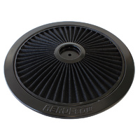 "AEROFLOW AF2251-1401 BLACK 14"" FULL FLOW WASHABLE AIR FILTER TOP LID PLATE"