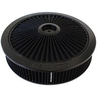 "AEROFLOW AF2251-3079 BLACK WASHABLE 14"" x 3"" FULL FLOW AIR FILTER FOR DOMINATOR"