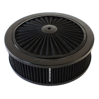 "AEROFLOW AF2251-3150 BLACK WASHABLE 9"" x 2-3/4"" FULL FLOW AIR FILTER ASSEMBLY"