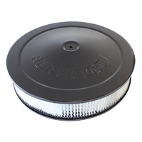 "AEROFLOW AF2256-1280 BLACK 14"" x 3"" AIR FILTER ASSEMBLY WITH 1-1/8"" DROP BASE"