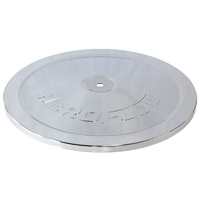 "AEROFLOW AF2851-0922 CHROME 9"" AIR CLEANER FILTER STEEL TOP LID PLATE"