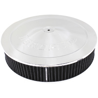 "AEROFLOW AF2851-1280 CHROME WASHABLE 14"" x 3"" AIR FILTER ASSEMBLY - DROP BASE"