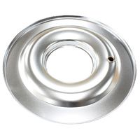 "AEROFLOW AF2851-1400 CHROME 14"" AIR CLEANER FILTER STEEL FLAT BASE PLATE"