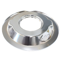 "AEROFLOW AF2851-1411 CHROME 14"" AIR CLEANER FILTER STEEL RECESSED DROP BASE PLATE"