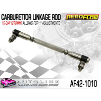 "AEROFLOW AF42-1010 CARBURETTOR LINKAGE ROD 270mm -10-3/4"" ALLOWS 1"" ADJUSTMENT"