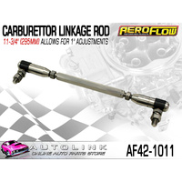 "AEROFLOW AF42-1011 CARBURETTOR LINKAGE ROD 295mm 11-3/4"" - ALLOWS 1"" ADJUSTMENT"
