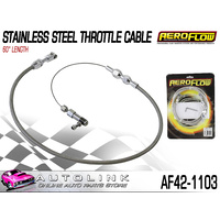 "AEROFLOW STAINLESS STEEL THROTTLE CABLE - 60"" LENGTH AF42-1103"