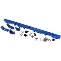 AEROFLOW AF64-2004 FORD 4.0L BA - BF XR6 TURBO TYPHOON BILLET FUEL RAIL KIT BLUE