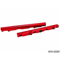 AEROFLOW BILLET EFI FUEL RAIL RED FOR HOLDEN GM V8 LS2 & LS3 AF64-2006R