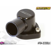 AEROFLOW BILLET 90° THERMOSTAT HOUSING BLACK FOR FORD CLEVELAND AF64-2039BLK