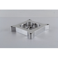 "AEROFLOW 1"" TAPERED HIGH VELOCITY CARBURETTOR SPACER - 4 BARREL BILLET FINISH"