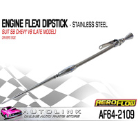 AEROFLOW STAINLESS STEEL FLEXIBLE ENGINE DIPSTICK SUIT SB CHEV V8 - LATE MODELS