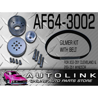 AEROFLOW AF64-3002 GILMER DRIVE PULLEY & BELT KIT FOR FORD 302 351 CLEVELAND V8