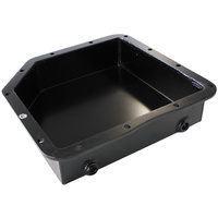 "AEROFLOW 3"" DEEP FABRICATED TRANSMISSION PAN - FOR GM TURBO 350 BLACK FINISH"