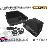 "AEROFLOW 3.25"" DEEP FABRICATED TRANSMISSION PAN FOR HOLDEN TRIMATIC AF72-3005BLK"