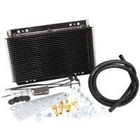 "AEROFLOW AF72-6050 OIL COOLER KIT 11"" x 6"" WITH 3/8"" BARB FITTINGS"