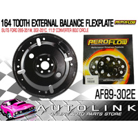 AEROFLOW 164 TOOTH EXTERNAL BALANCE FLEXPLATE SUIT FORD 302 351 CLEVELAND V8