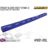 "AEROFLOW 2"" OR 51mm ID STRAIGHT SILICONE HOSE BLUE 1 METRE LONG AF9001-200L"