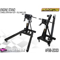 AEROFLOW AF98-2033 5 WHEEL ENGINE STAND FOLDABLE HEAVY DUTY 360 DEGREE ROTATING