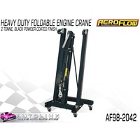 AEROFLOW FOLDABLE ENGINE CRANE - 2 TONNE POWDER COATED BLACK AF98-2042