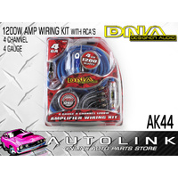 DNA AK44 4 GAUGE 4 CH 1200W AMPLIFIER WIRING KIT 80AMP FUSE & HOLDER & RCA INC