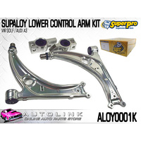 SUPERPRO ALLOY FRONT LOWER CONTROL ARMS KIT SUIT AUDI A3 MK2 2003-ON ALOY0001K