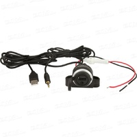 DNA ALR237 3.5mm & USB SOCKET TO 3.5mm USB PLUG FLUSH MOUNT STEREO LEAD