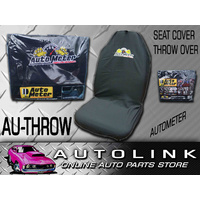 AUTOMETER UNIVERSAL THROW OVER SEAT COVER BLACK WITH LOGO SUIT BUCKET SEAT