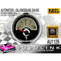"AUTOMETER AU1128 CRUISER SERIES OIL PRESSURE GAUGE 2-1/16"" SHORT SWEEP 0-100 PSI"