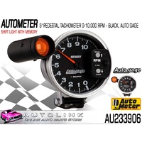 "AUTOMETER AUTO GAGE SHIFT-LITE TACHOMETER WITH MEMORY 5"" PEDESTAL MNT AU233906"
