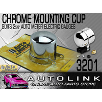 "AUTO METER CHROME PEDESTAL MOUNTING CUP FOR 2-5/8"" ELECTRICAL GAUGES AU3201 x1"