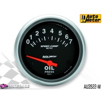 "AUTOMETER SPORT COMP OIL PRESSURE GAUGE 2-5/8"" (66.7mm) 0-7 BAR AIRCORE AU3522-M"