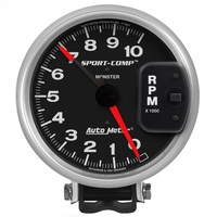"AUTOMETER AU3900 SPORT COMP SERIES MONSTER TACHOMETER 5"" WITH PEDESTAL MOUNT"