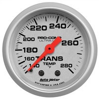 "AUTOMETER AU4351 ULTRA LITE SERIES TRANSMISSION TEMP GAUGE 2-1/16"" - 140 - 280°F"