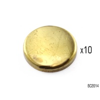 "PREMIERE BRASS WELCH PLUGs CUP TYPE 2-1/4"" BC2014 PACK OF 10"